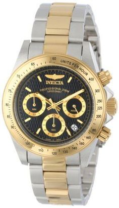 bd1a13fa8 80 Invicta Men's 9224 Speedway Collection Gold-Tone Chronograph S Series  Watch:Amazon: