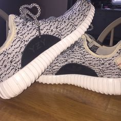 Inspired Yeezy's Brand new!!! Just worn to take a walk to see if they would fit! These are INSPIRED not real!!! Little spot on front of shoe but they came like that:( is not even noticeable. 24cm measurement. These DO have symbol on sides! Yeezy Shoes