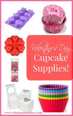 Valentine's Day cupcake supplies....I need ALL of these!!
