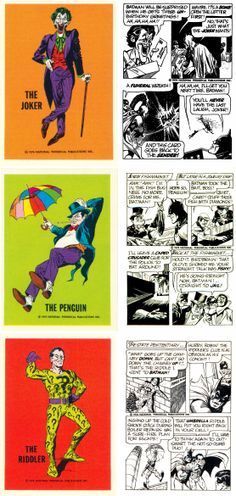 National Periodical Publications Inc. Batman Trading Cards, 1974