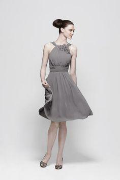Watters and Watters bridesmaid dress - love this shade of gray.