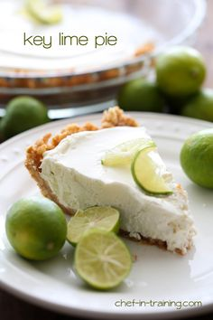 Key Lime Pie from chef. This pie is FABULOUS! It is so quick and easy and the vanilla wafer crust compliments it perfectly! Key Lime Pie, Just Desserts, Delicious Desserts, Yummy Food, Pie Dessert, Dessert Recipes, Vanilla Wafer Crust, Lime Recipes, Tart Recipes