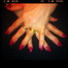 Sangria Pointed #Nails