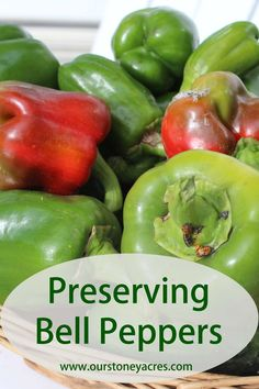 Preserving Bell Peppers is actually very easy to do. Follow these simple steps to have that great green pepper flavor for your cooking all year long.