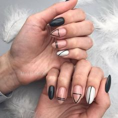 Simple Line Nail Art Designs You Need To Try Now line nail art design, minim. - Simple Line Nail Art Designs You Need To Try Now line nail art design, minimalist nails, simple - Easy Nails, Easy Nail Art, Cool Nail Art, Simple Nails, Cute Nails, Pretty Nails, Line Nail Designs, Fall Nail Art Designs, Minimalist Nails