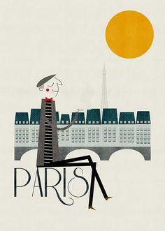 Paris by Bianca Gomez. #Illustrations #paris