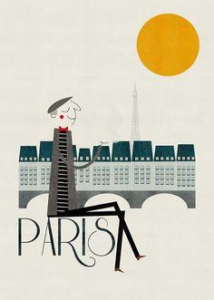 Paris by Blanca Gomez. #Illustrations #paris ole mi blanquita!! albarrancin´s remember...