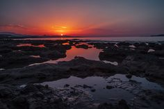 Sunset in Analipis, Crete, Greece. Canon 5D mark II + 28mm f/1,8 + ND8