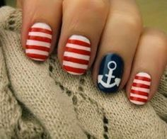 yacht club nails!! :)