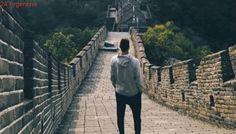 A la espera del debut en China, Juan Martín Del Potro pasea por la Gran Muralla