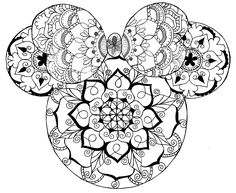 Disney Mandala Coloring Pages Disney Mandala Minnie Mouse Mandala Art In 2020 Mickey Mouse Coloring Pages, Love Coloring Pages, Disney Coloring Pages, Mandala Coloring Pages, Adult Coloring Pages, Coloring Books, Disney Tattoos, Mouse Tattoos, Son Tattoos