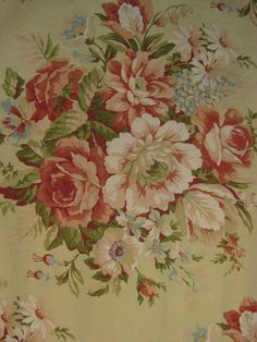 Ralph Lauren Charleston Floral Fabric 46 Quot By 90 Quot New