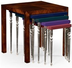 Alexander Julian Designs Five Nesting Tables-89. Our Price: $1,390.00 Visit our website to see more........