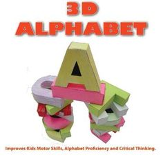 3D Alphabet Pop Up Book