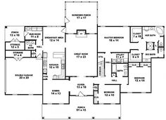#653941 - One story 3 bedroom, 3.5 bath Louisiana Plantation style house plan : House Plans, Floor Plans, Home Plans, Plan It at HousePlanIt.com