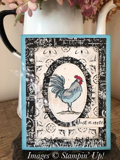 Pinterest Cards, Home To Roost, Chickens And Roosters, Embossed Cards, Stamping Up Cards, Bird Cards, Animal Cards, Creative Cards, Cute Cards