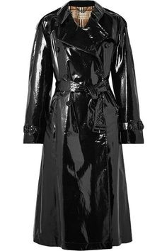 Burberry - Eastheath Coated-cotton Trench Coat - Black