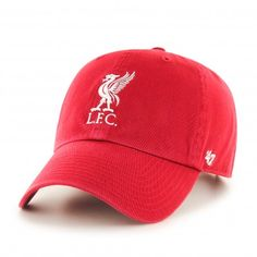 d48370ff5b3 The LFC Red CLEAN UP is a relaxed and curved cap with raised LFC Liverbird  embroidery on the front. The back has an adjustable strap with a metal  clasp and ...