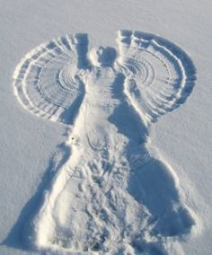 Now that is a snow angel.