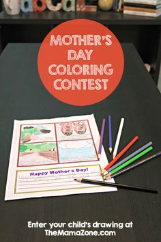 Download these printable Mother's Day coloring pages and let your child color and enter to win a $25 Amazon gift card in this fun Kids Coloring Contest.