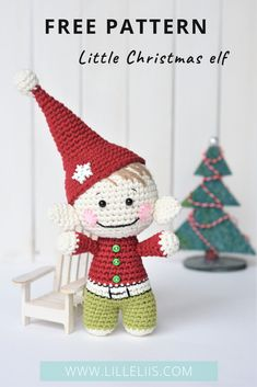 Free amigurumi pattern - Little Christmas elf Free amigurumi pattern Little Christmas elf by lilleliis. It`s small and simple, yet super cute. Make crochet gifts and enjoy the Christmas! Free amigurumi pattern - Little Christmas elf Free amigurumi pattern Crochet Pig, Crochet Gifts, Free Crochet, Easy Crochet, Crochet Toys, Crochet Christmas Ornaments, Christmas Crochet Patterns, Holiday Crochet, Crochet Snowflakes