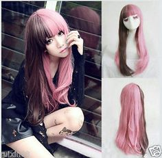 Fashion-Lolita-Hair-Long-Curly-Wavy-Full-Wigs-Cosplay-Party-Costume-free-wig-cap