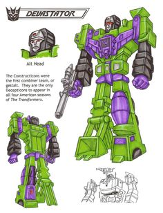 Devastator from Transformers: The Ark.