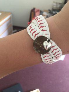 Crossed Baseball Bracelet by MajorLeagueMiss on Etsy