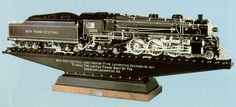 Considered one of Mooney Warther's finest carvings, The Great Northern Mountain type 4-8-4 locomotive consisted of 7,752 individually carved pieces. It was his favorite. Made from ebony, ivory and pearl, the carving was completed in 1933 when Mooney was 48 and at the top of his form