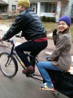 Xtracycle with passenger