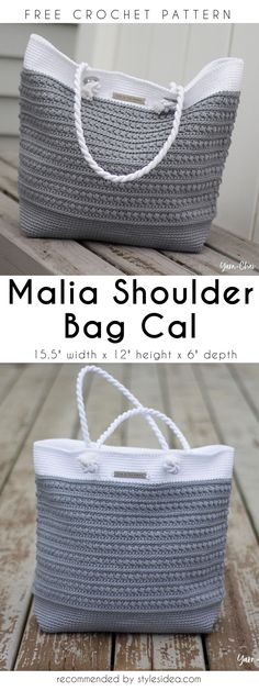 Malia Shoulder Crochet Bag Cal Free Pattern | DIY