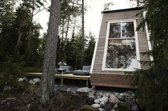 96 Sq. Foot Finnish Micro-Cabin Built Small To Forego Permits ... a dfferent view of one of my favourite cabins