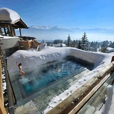 Fascinating view of the Alps and the Mont-Blanc from Lecrans Hotel & Spa in Switzerland.