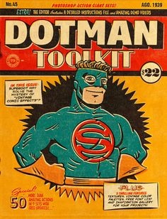 DotMan ToolKit Vintage Comic Effects by ThunderPixels Store on @creativemarket. Amazing Photoshop Actions!