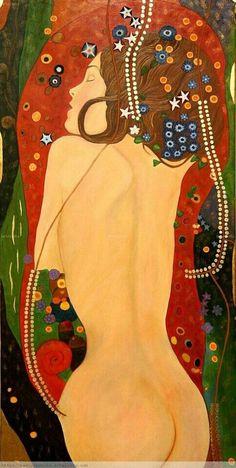 Imitación del estilo de Gustav Klimt. See The Virtual Artist gallery: www.theartistobjective.com/gallery/index