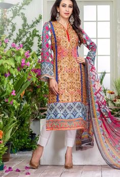 TOP: Cotton Satin BOTTOM : Cotton Satin DUPATTA: Japani Chiffon COLOR: Multicolor WORK: Digital Print TYPE: Semi stiched SIZE: Adjustable up to 42 SHIPPING & RETURNS - Product will be shipped within 1