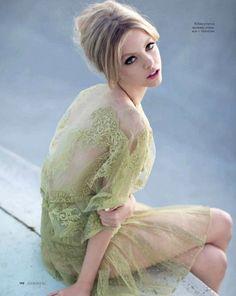 Elle Russia April 2012  Photographer: Kayt Jones  Stylist: Daria Anichkina  Hair: Patricia Morales  Make-up: Sarai  Model: Skye Stracke  Click image to see full post.