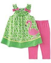 Kids Headquarters Baby Girls' 2-Piece Flamingo Tunic & Leggings Set