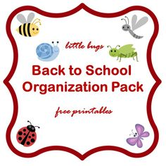 Keeping it Real: Back-to-school organization pack - free printable
