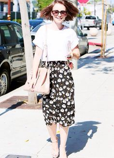 Lily Collins leaving Andy Lecompte hair salon in Los Angeles, July 3, 2014