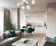 Apartment Interior, Apartment Design, Home Living Room, Interior Design Living Room, Living Room Decor, Home Room Design, Dining Room Design, Interior Design Kitchen, House Design