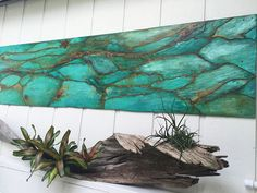 Hanging Wall Decor Project with Metal Effects Patinas | Wood Art by Jennifer Gibson | Floor and Art featured in the Modern Masters Blog