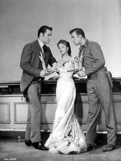 John Russell, Yvonne De Carlo, Scott Brady-- The Gal Who Took the West Old Western Actors, Western Movies, Hollywood Icons, Vintage Hollywood, Clint Walker, John Russell, Yvonne De Carlo, Tv Westerns, Old Movie Stars