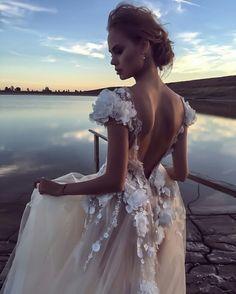 Dream Wedding Dresses, Wedding Gowns, Backless Wedding, Bouchra Jarrar, Lesage, One Shoulder Wedding Dress, Lace Dress, White Dress, Gown Dress