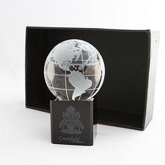Cranfield University Globe Paperweight
