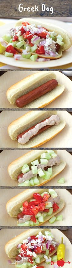 Bring Mediterranean flavors to your BBQ this summer with a Greek Hot Dog recipe.