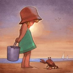 Girl sketch by ~TheNass on deviantART Girl Sketch, Art Graphique, Children's Book Illustration, Whimsical Art, Beach Art, Amazing Art, Pastels, Cool Art, Concept Art