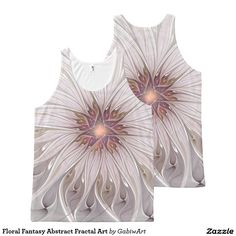 Floral Fantasy Abstract Fractal Art All-Over Print Tank Top