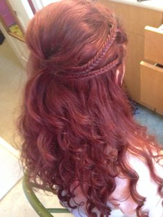 Prom hair. Small Fish bone braids.