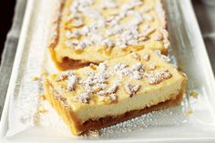 Ricotta & Orange Tart by Taste. End your meal on a light note with this delicious ricotta and orange tart. Tart Recipes, Sweet Recipes, Dessert Recipes, Lemon Recipes, Pastry Recipes, Low Fat Desserts, Just Desserts, Delicious Desserts, Sweet Pie